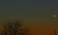 PanSTARRS and Crescent Moon #1