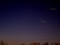 Comet C/2013 R1 Lovejoy and Airplane