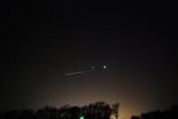 Airplane, Jupiter & Venus with Horizon