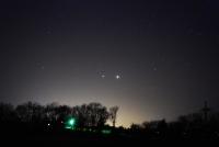 Jupiter and Venus on the Horizon