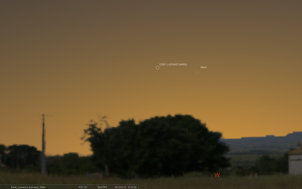 Comet PanSTARRS and New Moon