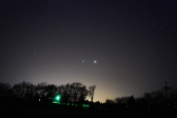Jupiter and Venus on the Horizon