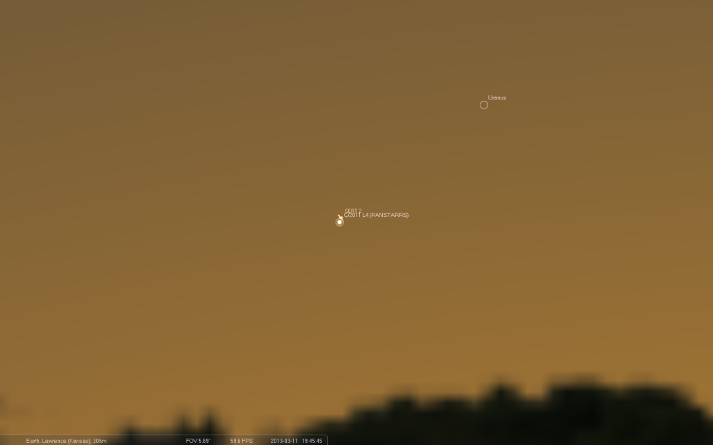 Comet PanSTARRS and Satellite SERT 2